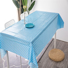cheap customized printed table cloth with flannel back