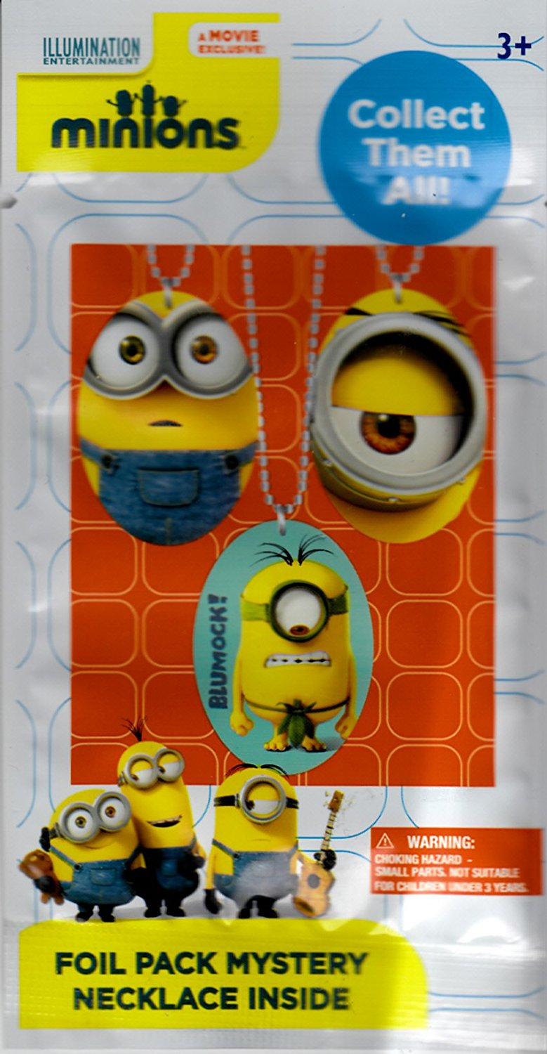 Minions Mystery Necklace Blind Foil Pack