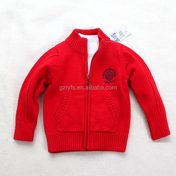 Children Clothing Manufacturer Baby Boy Sweater Design Kids Cardigan