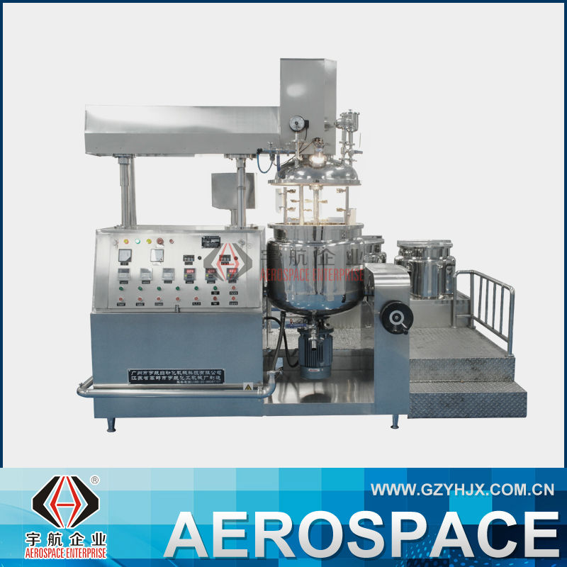 Hydraulic Chemical Mixer Cosmetic Cream Vacuum Emulsifier
