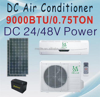 DC air conditioner 9000BTU solar powerd air conditioning DC-25GW