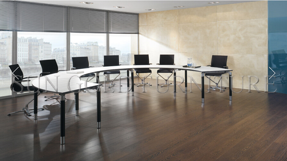 Modern Half Round Curved Melamine Office Conference