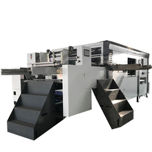 Full - Auto Lead Edge Feeder Paper Flat Bed Die Cutting Creasing Machine With Stripper