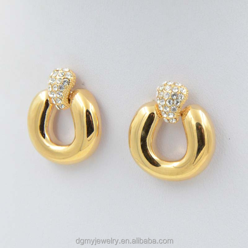 Charm Earring Fashion Simple Gold Earring Designs For Women - Buy ...