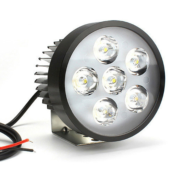 Portable Tricycle Sharpy Rickshaw Led Headlight 18w 12 Volt Lights Motorcycle With Free Brackets