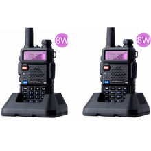 Longa distância UV-5R 8 w FM Walkie <span class=keywords><strong>Talkie</strong></span> 1800 mah Baofeng UHF/VHF PMR446 Two-Way Radio
