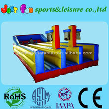 Hot sale 3lane inflatable free bungee run equipment