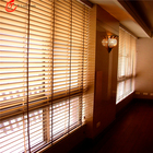 Wooden Venetian blackout blind Meeting room curtains motorized roller blinds