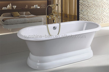 Smaltare Vasca Da Bagno Prezzi : Classico piedistallo in fusione di ghisa vasca da bagno dello smalto
