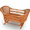 Home Furniture Bedroom Reinforce Rattan Baby Crib Wicker Baby Bed Crib Baby Rocking Crib