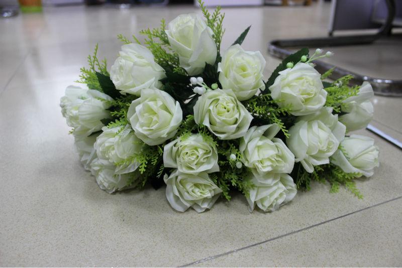 Alta qualidade buquês de flores artificiais para decoração de