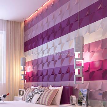 Bunte Neue Mode Designs Interior 3d Wandverkleidung 3d Pvc