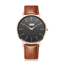 Trendy hot no brand name luxury men's japan movement stainless steel watch custom logo