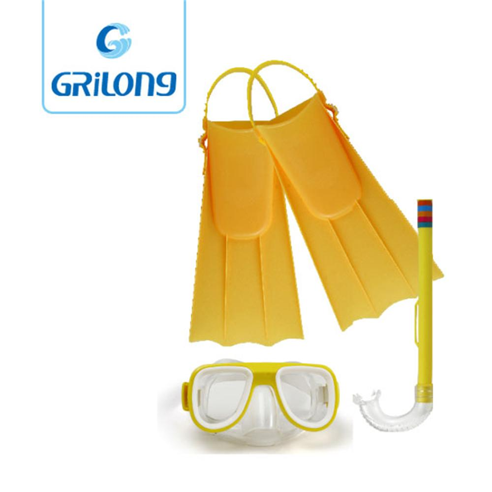 Junior diving set Dive Mask + Snorkel Set+fins