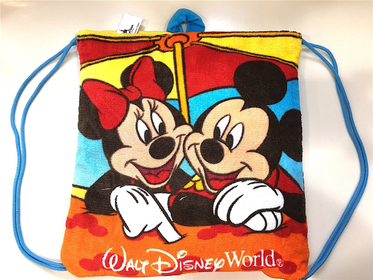 Walt Disney World Mickey Minnie Mouse Character Colorful Beach Towel Backpack Set New