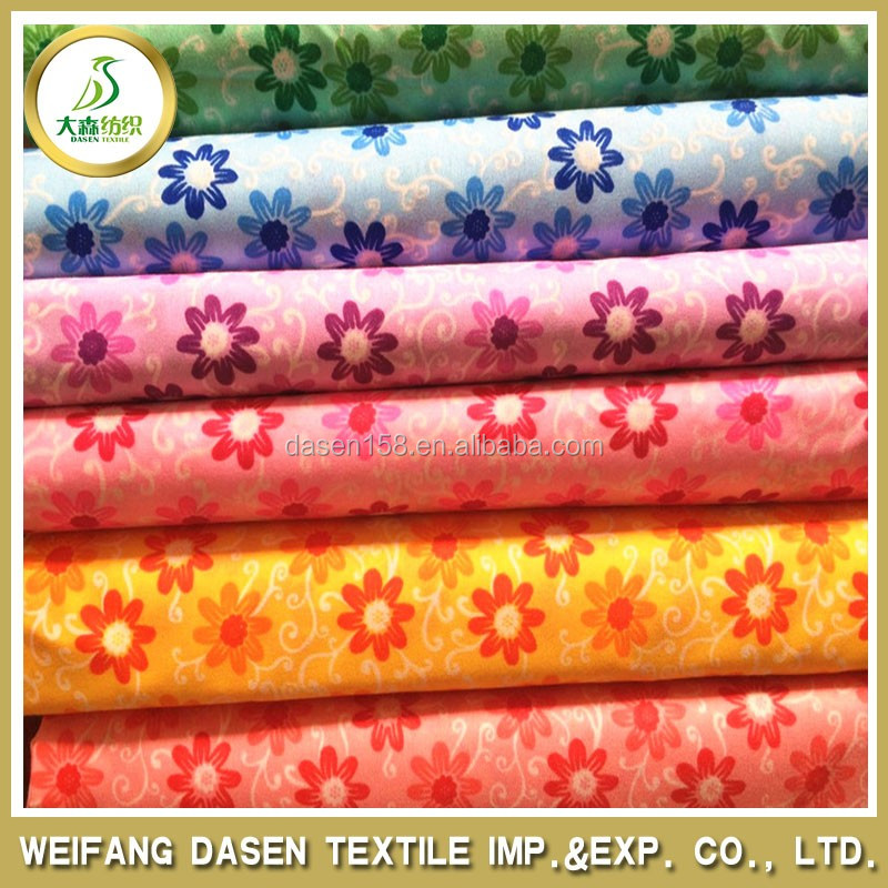 2015 Geometric patterns colorful daisy 100% polyester woven printed fabric