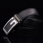 Good Quality Man Fashion Wholesale Automatic Buckle Belt Cow Hide Genuine Leather Belts for man