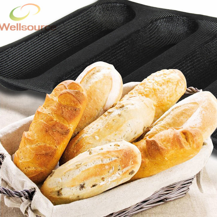 ᓂ9 Inch Sub ⊹ Rolls Rolls Baking Pan 4 Cavities One Mold ᗕ