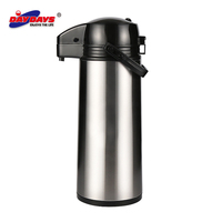 China Wholesale Pump Coffee Pot, Metal Body Thermos Pot