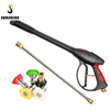 4000 PSI Car High Pressure Washer Gun With 19'' Extension Wand 5 Quick Connect Nozzles for Home Washer