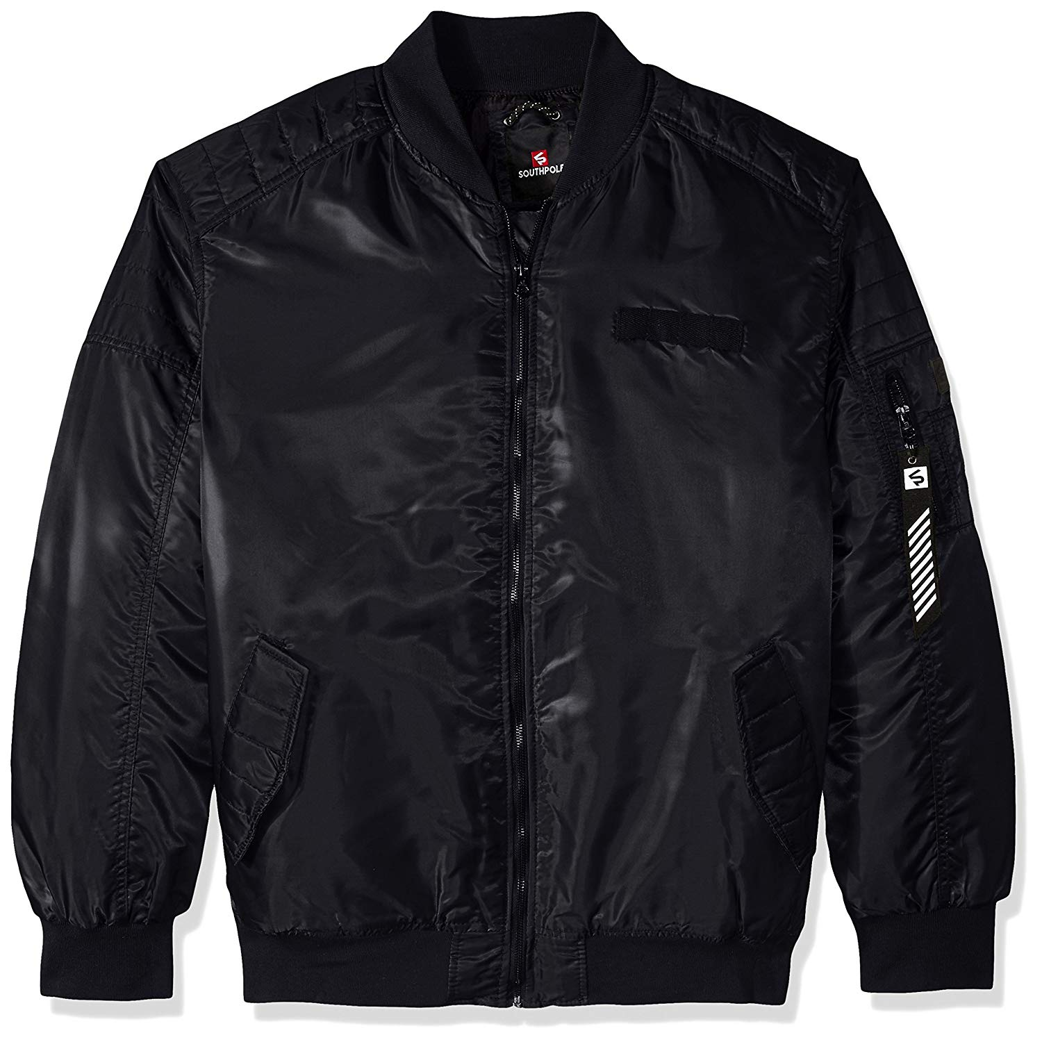 0c1251adcb Get Quotations · Southpole Men s Big   Tall Nylon Bomber Ma-1 Jacket With  Utility Zippered Pocket On