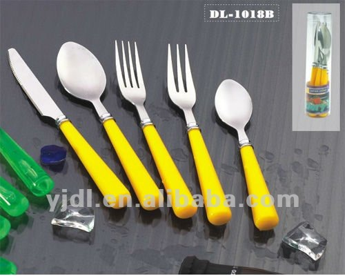 Colored Orange Handle Flatware Sets, Colored Orange Handle Flatware Sets  Suppliers And Manufacturers At Alibaba.com