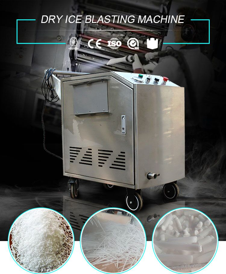 industry dry ice cleaner dry ice blasting and chiller machine