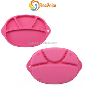 Anti slip silicone placemat baby dishes all types of plate OEM ODM manufacture