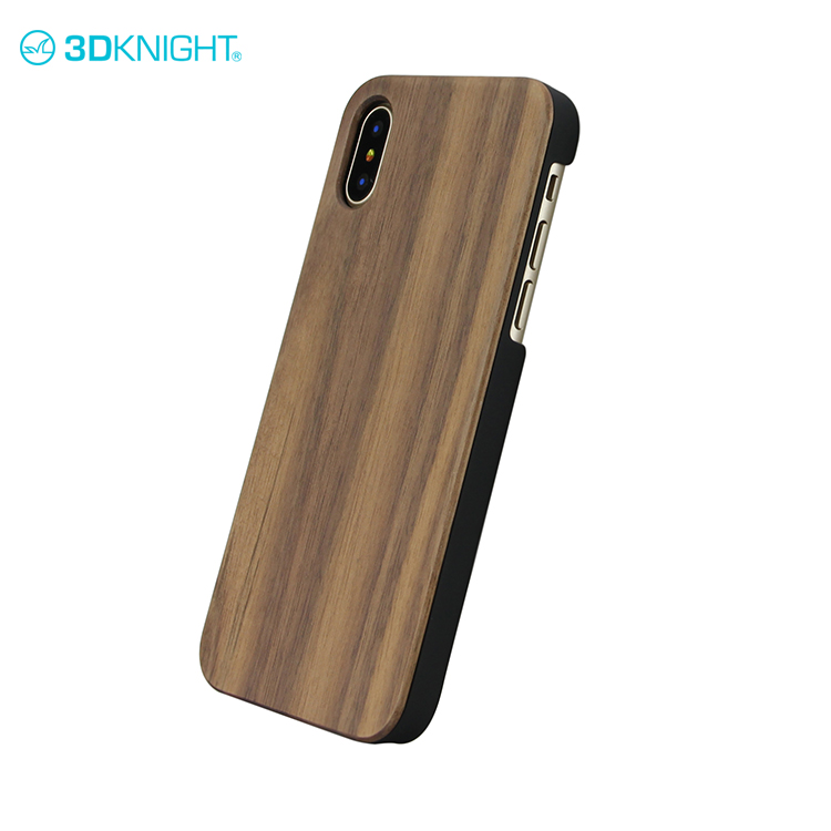Natural walnut + pc wooden hardcase tree for iphone X phone case industrial