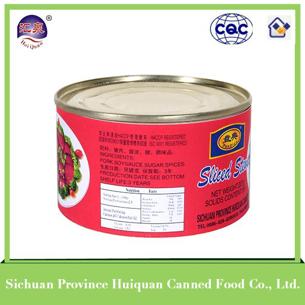 Buy wholesale direct from china ham luncheon meat canned stewed pork meat