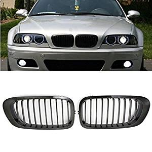 Pink Lizard Chrome Black Kidney Front Grille Grill For BMW E46 3 Series