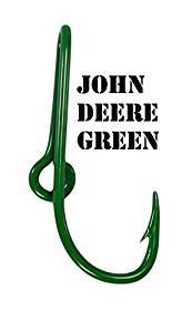 Eagle Claw John Deere Green Hat Hook Fish hook for Hat John Deere Green Fish Hook Money/Tie Clasp