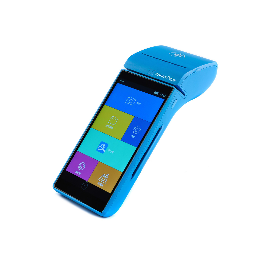 Smartpeak Android POS terminal handheld / bus lottery ticketing machine / restaurant food ordering POS