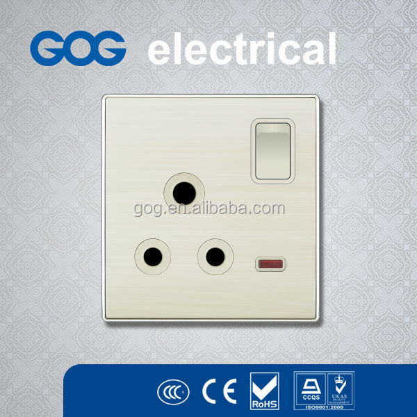luxury design england electrical wall switch and socket 15amp plug socket and switch CE/SASO/IEC