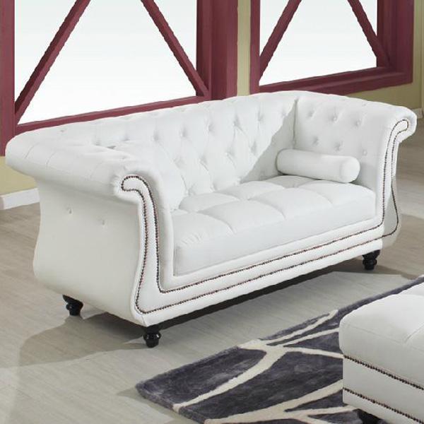 Ss52 witte lederen chesterfield sofa set met knop ontwerp hotel banken product id 1263801285 - Ontwerp banken ...