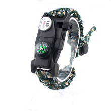 <span class=keywords><strong>Survival</strong></span> Paracord <span class=keywords><strong>Armband</strong></span> <span class=keywords><strong>Survival</strong></span> Gear Kit met SOS LED Licht Kompas <span class=keywords><strong>Fluitje</strong></span> Schraper Emergency Mes door Wilderness <span class=keywords><strong>Survival</strong></span>