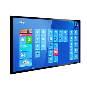 65 inch indoor LCD wall mounted 10 points infrared touch screen kiosk manufacturer price