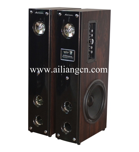 2.0 stage speaker with amplifier and high DJ power-AILIANG-USBFM-8100D/2.0