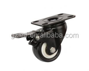 High Quality ball bearing PU caster wheel with brake industrial caster