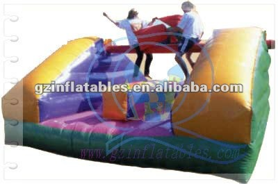 2012(Qi Ling)High quality inflatable gladiator joust arena for racing game