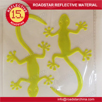 Gecko Animal Reflective safety stickers on wall