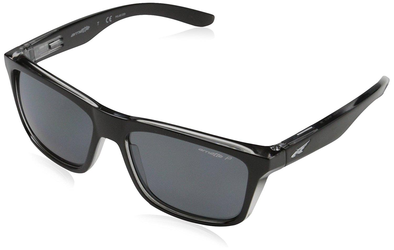 066f558e175f5 Get Quotations · Arnette Mens Syndrome Sunglasses (AN4217) Black Grey  Plastic - Polarized - 57mm