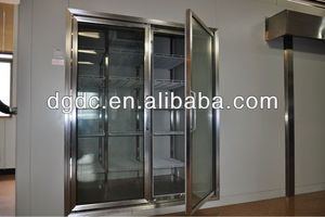 drinks cooling room (glass door with heater)