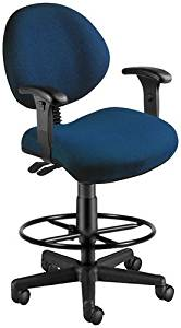 OFM 241-AA-DK-202 24-Hours Task Chair with Arms and Drafting Kit