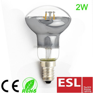 led light bulb clear glass reflector Led Filament bulb E14 2W R50/R63/R80