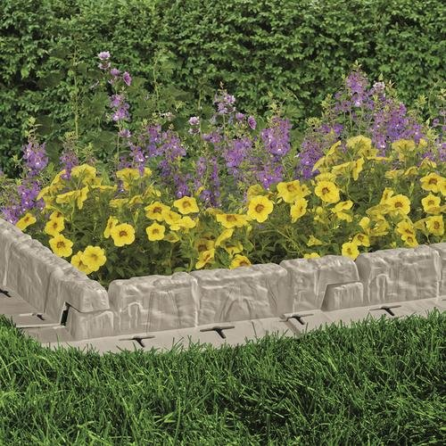 Get Quotations · Suncast Cobbled Stone Effect Garden Lawn Mow Edging Plant  Border (10 Ft)