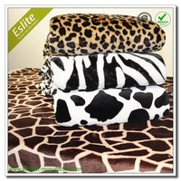 Super Soft Printed Animal Cow Coral Fleece Blanket