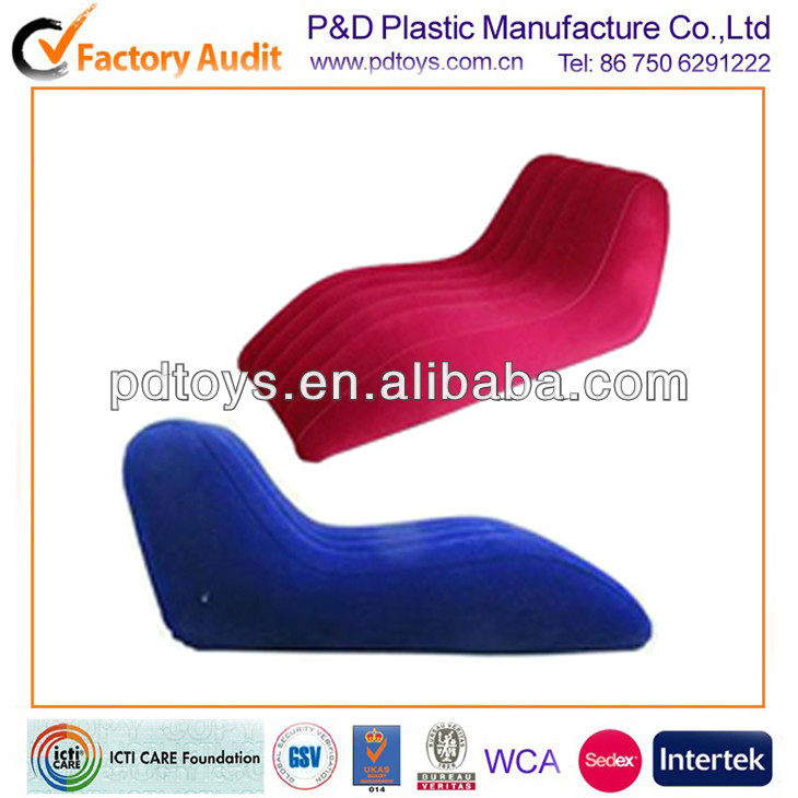 6P PVC inflatable lounge S shape Accord with human body