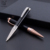 Hot selling Sliver black color custom pen logo metal twist
