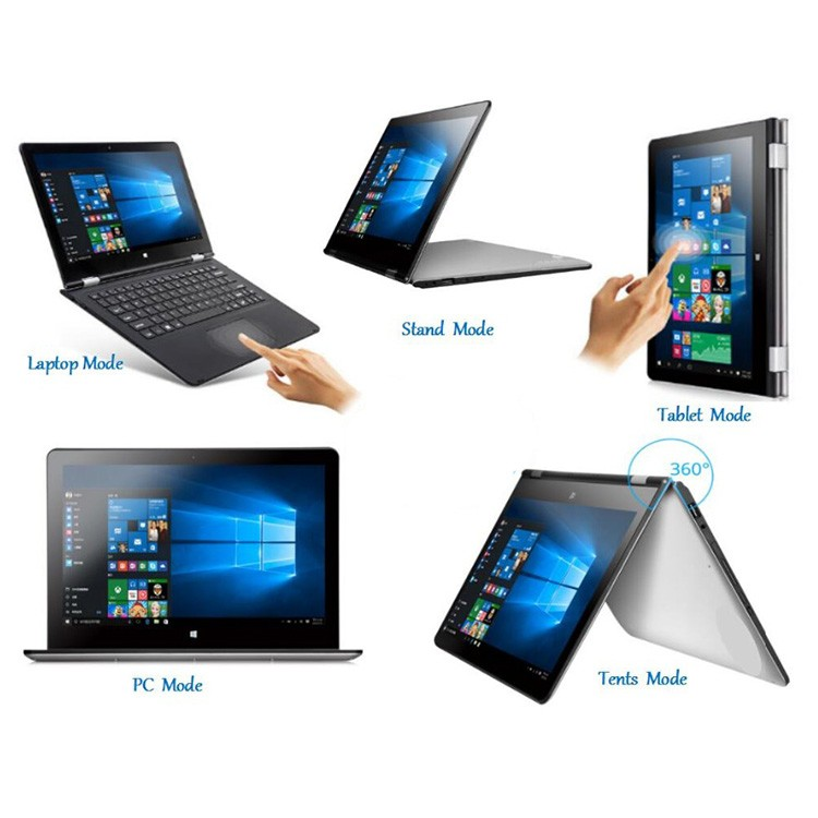 11.6 inch ultrabook capacitive touch screen intel Z8300 quad core 1.8GHz 360 degree flip 2 in 1 4GB ram 64GB ssd yoga <strong>laptops</strong>